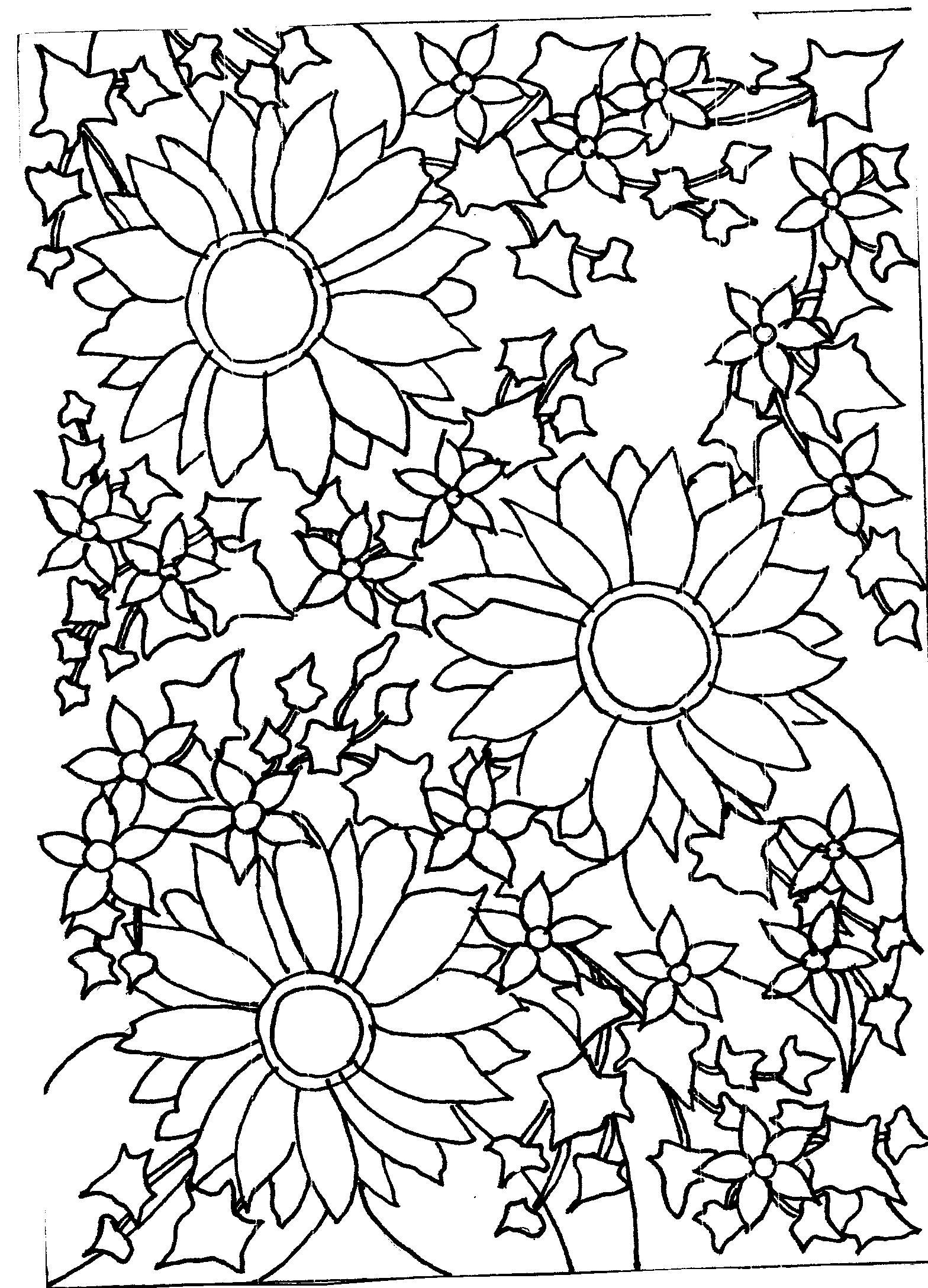 Pattern Flower Drawing With Colour Best 25 Flower Tattoo: Mrs. Chucklebeary's Garden