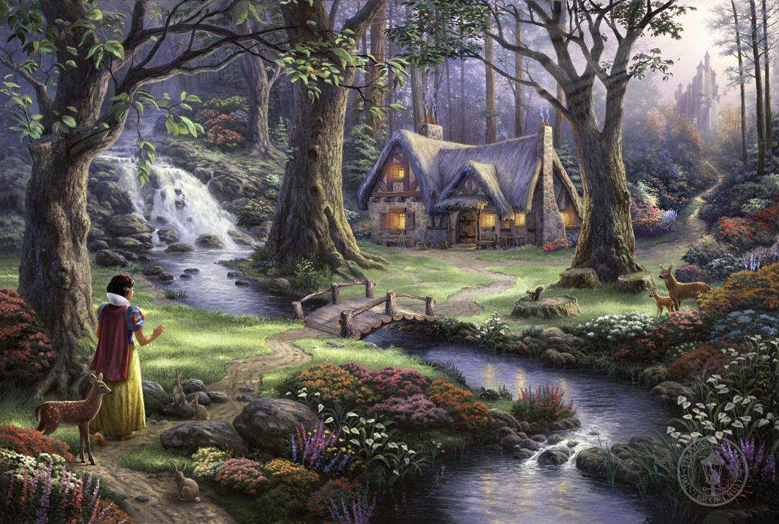 15 August 2011 Paintings Kinkade Snow White