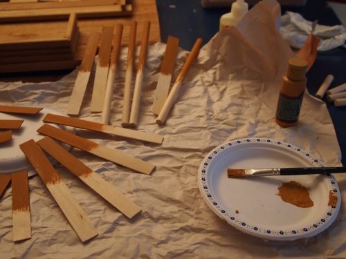 wood pieces to repair dollhouse
