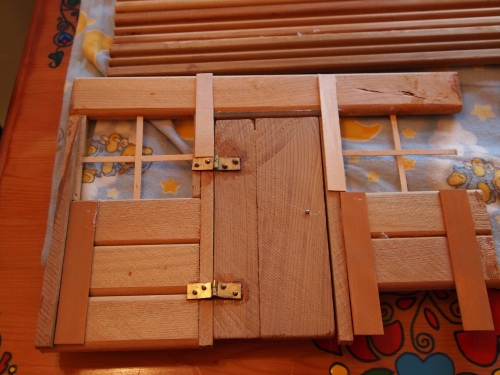 reinforcing the door frame on dollhouse