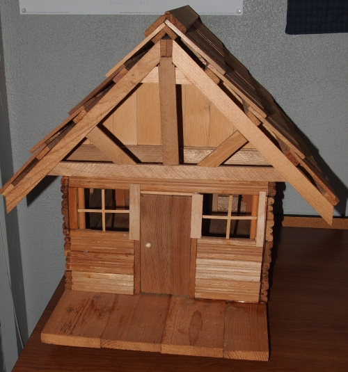 Log dollhouse Dad built for me