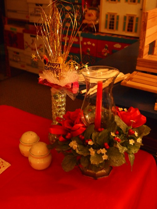 Valentine's and birthday table decorations