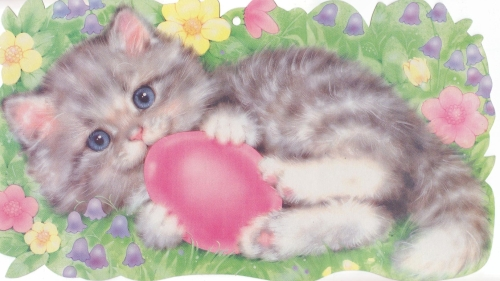 Spring 2013 Happy Easter kitten stitch