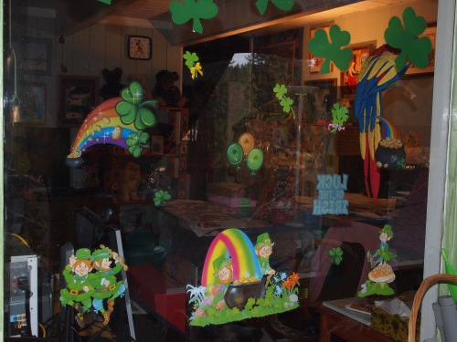 St Patrick's window decs 2013
