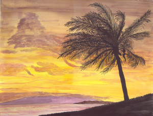 Paintings Hawaiian Sunset stitch edit